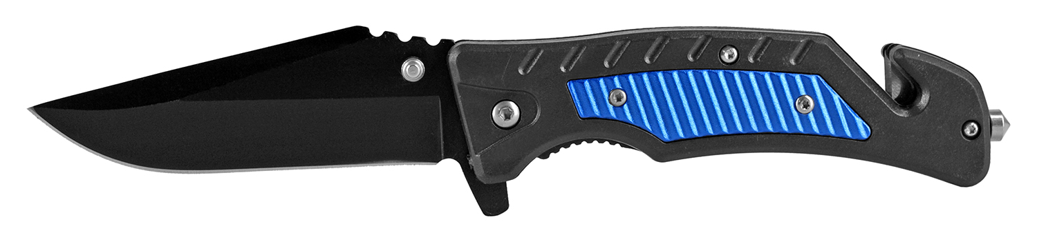 4.75 in Emergency Rescue Folding Pocket Knife - Blue