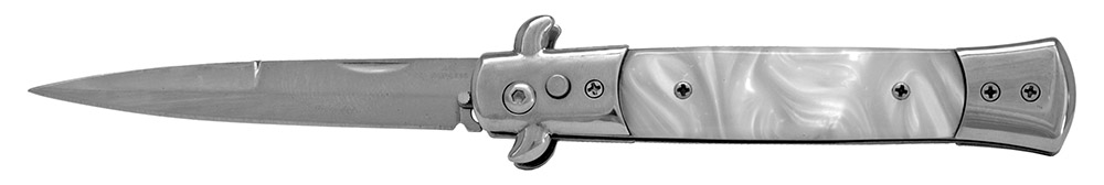 5 in Spring Assisted Switchblade - Silver