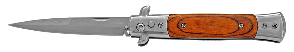 5 in Spring Assisted Switchblade - Wooden