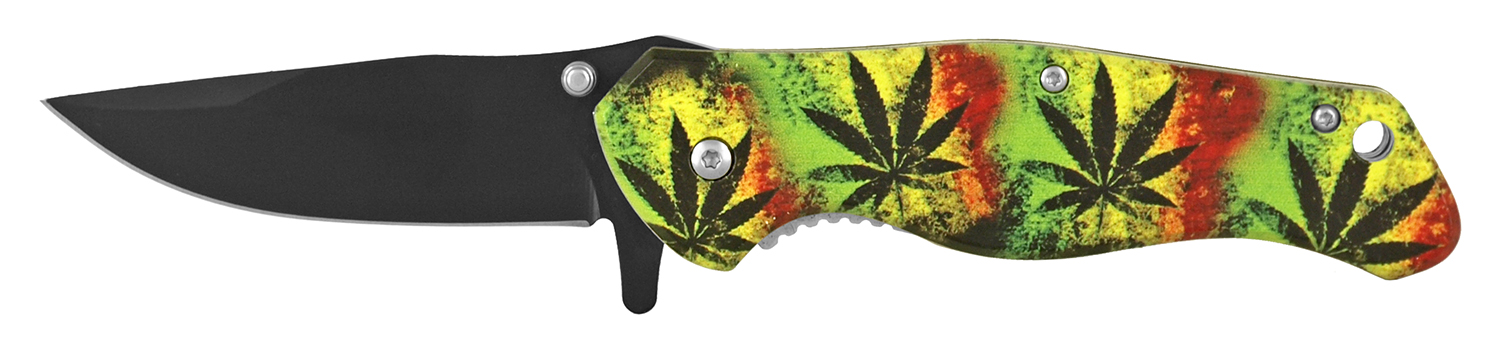 4.75 in Quick Access Folding Pocket Knife - Mary Jane Tie Dye