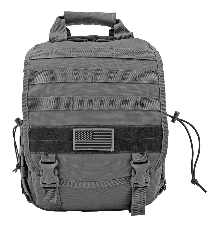 Tactical Traveler Hipster Laptop Backpack - Grey