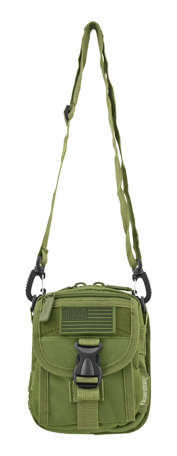 The Tactical Over the Shoulder Everyday Carry Attachment Bag - Olive Green