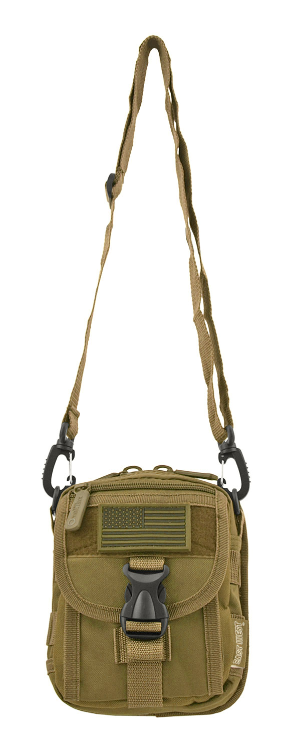 The Tactical Over the Shoulder Everyday Carry Attachment Bag - Desert Tan