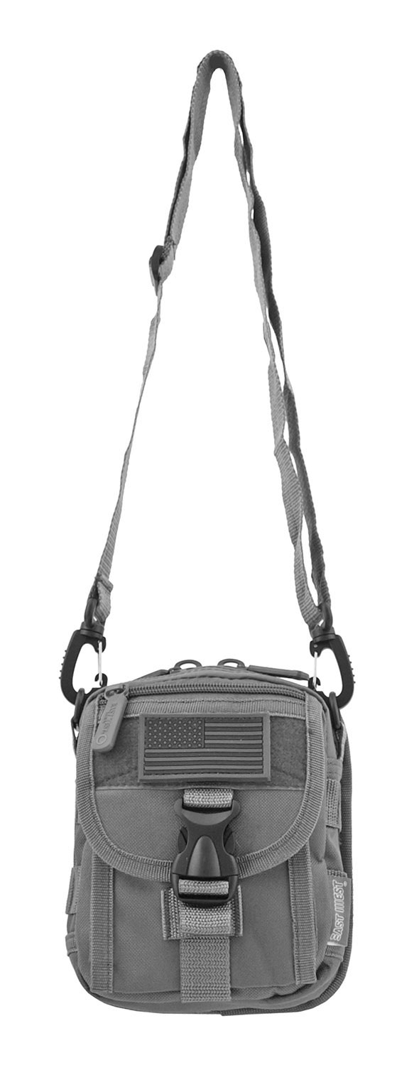 The Tactical Over the Shoulder Everyday Carry Attachment Bag - Grey
