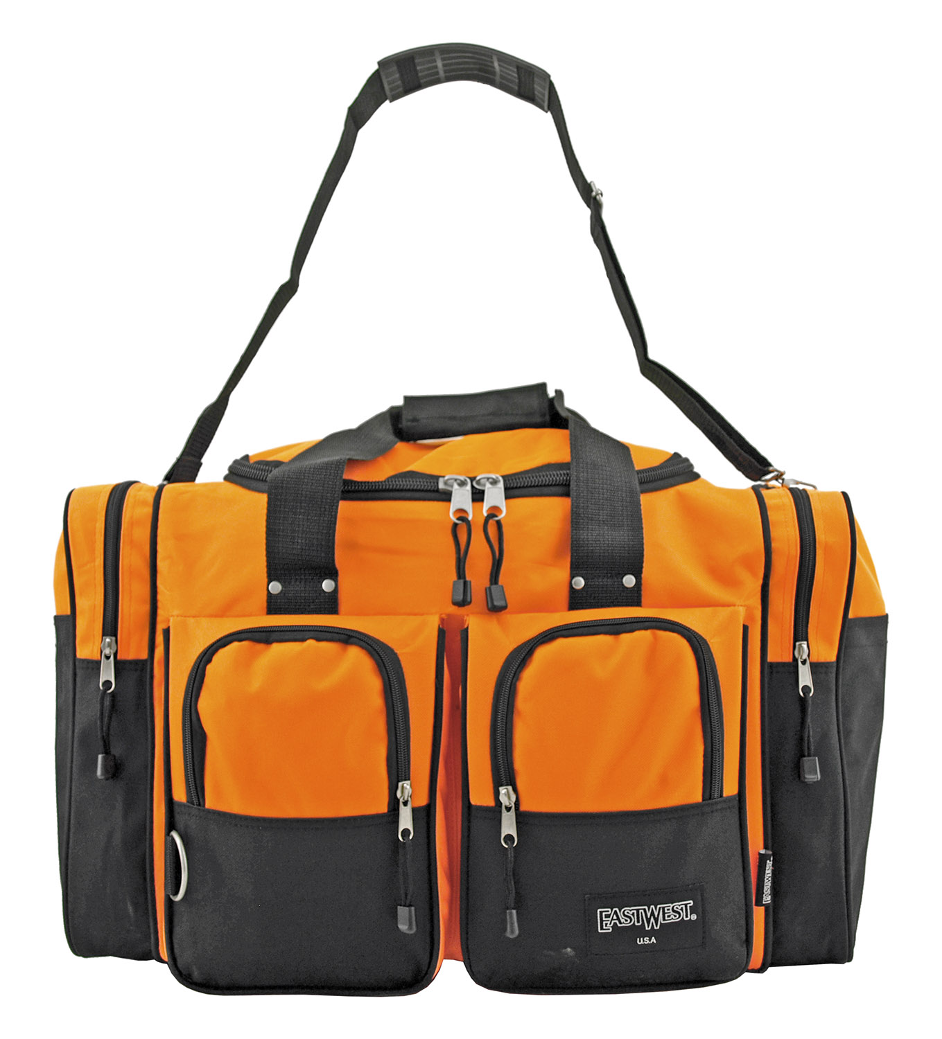 The Standard Duffel Bag with Bold Colors - Orange