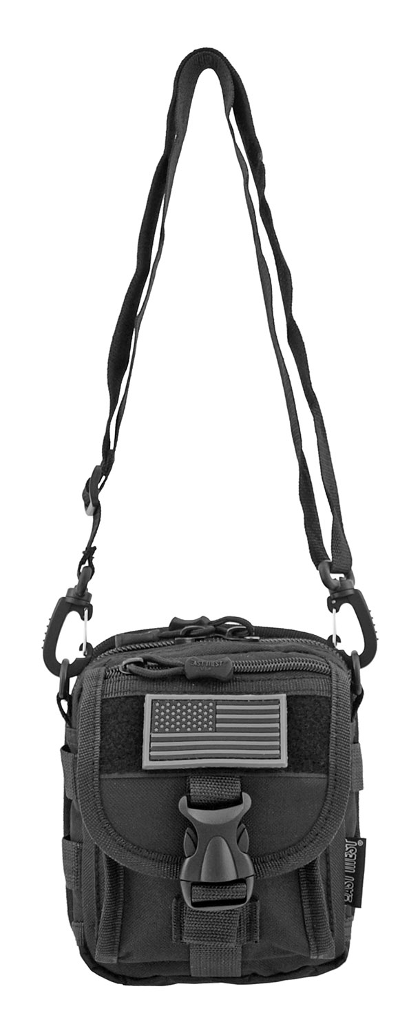 The Tactical Over the Shoulder Everyday Carry Attachment Bag - Black