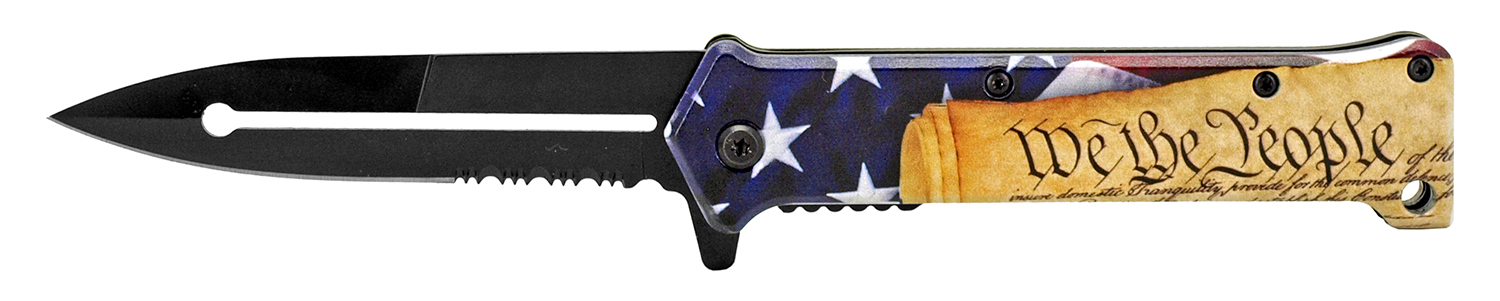 4.63 in Stiletto Folding Pocket Knife - We the People