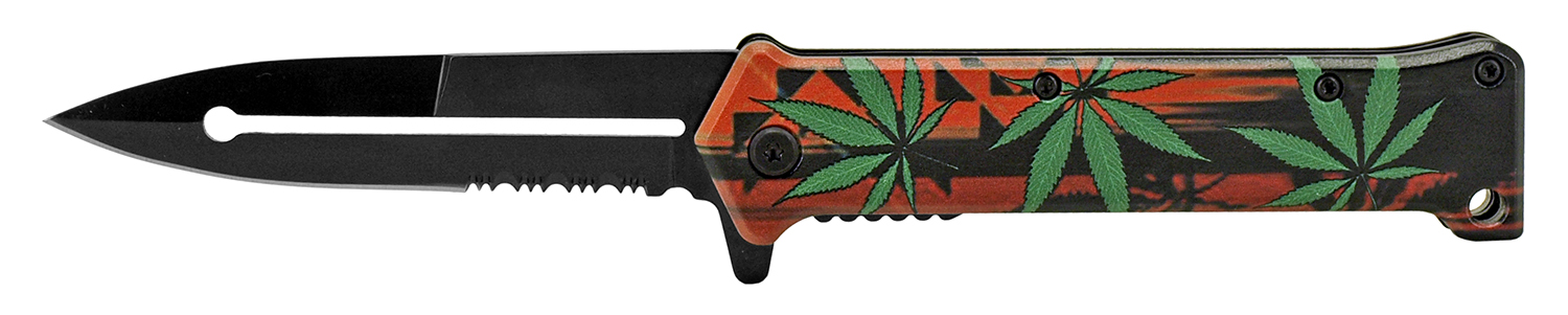 4.63 in Stiletto Folding Pocket Knife - Mary Jane Madness