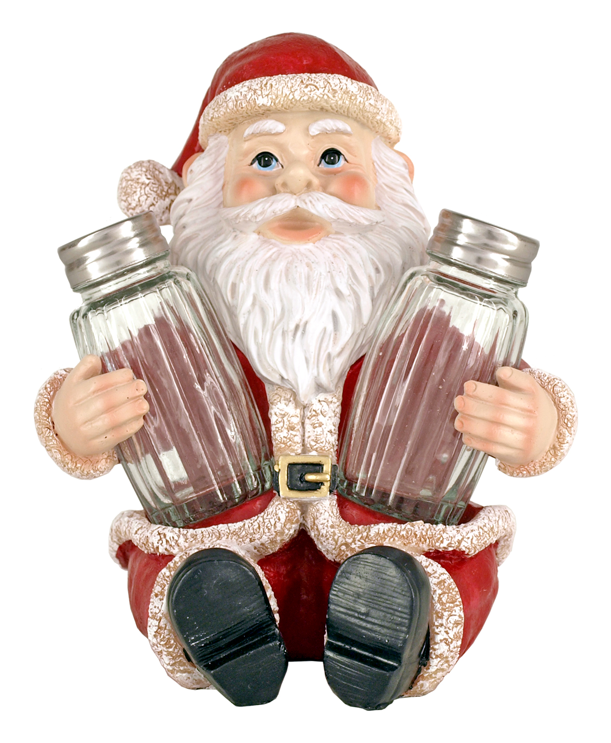 6.75 in Santa's Greeting Salt and Pepper Shaker Holder