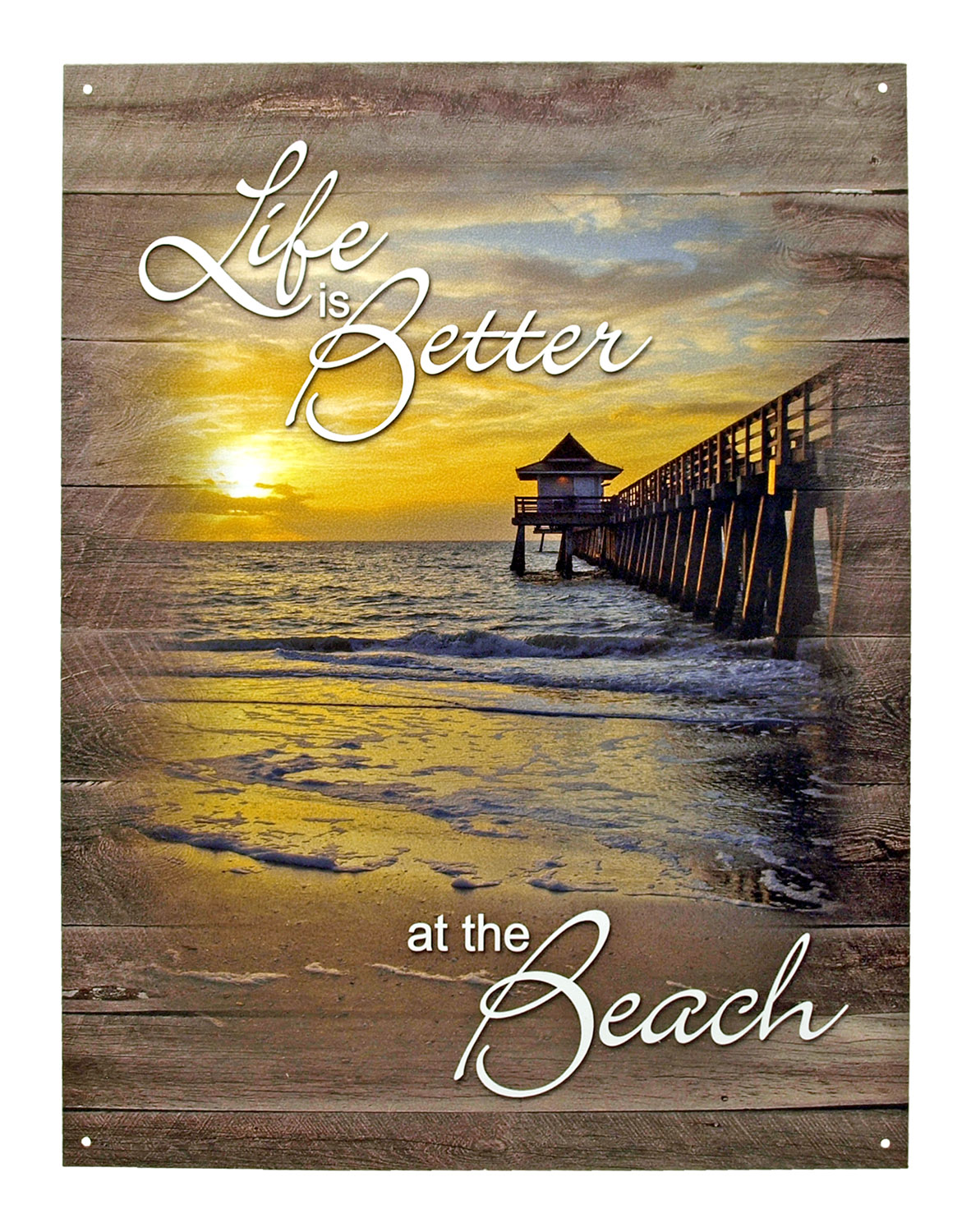 Life is Better at the Beach - Tin Sign