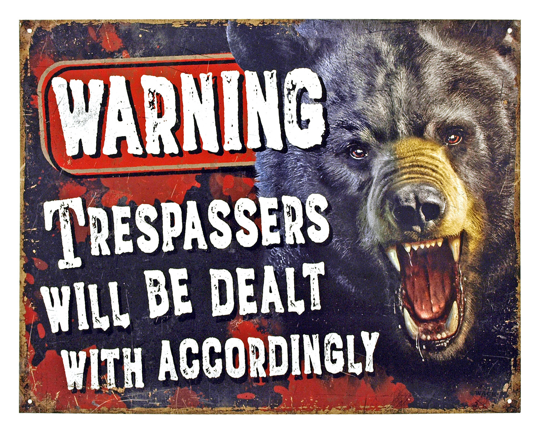 Warning Trespassers - Tin Sign