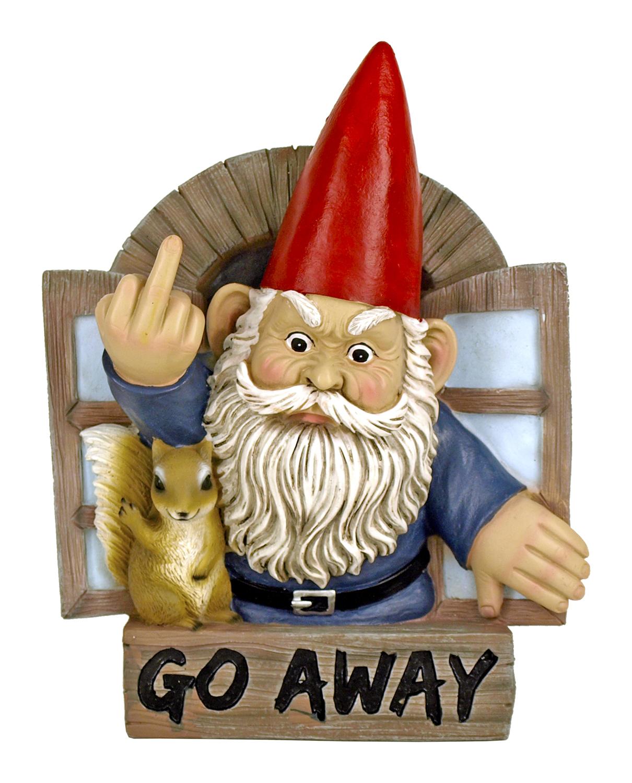 9 in Grumpy Greeting Gnome Wall Mount