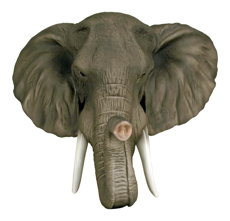 17.5 in Elephant Head Wall Mount