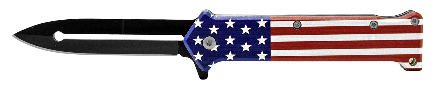 4.63 in Stiletto Folding Knife - US Flag
