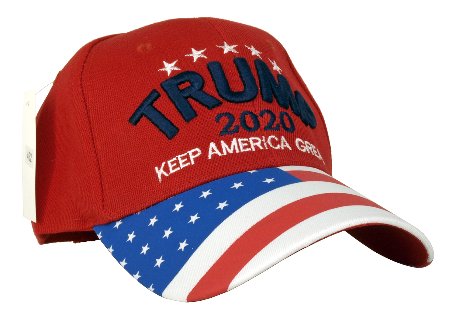 12 - pc. Trump Keep America Great with Full Flag Adjustable Hat - Assorted Colors