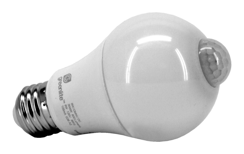 A19 Motion Sensor LED Light Bulb - 800 Lumens - Greenlite