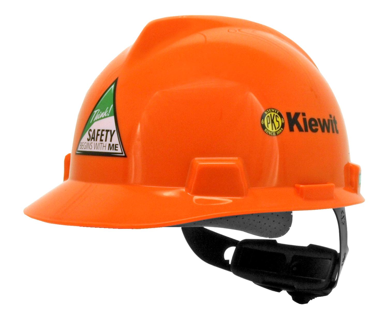 Kiewit Safety Construction Hardhat - MSA