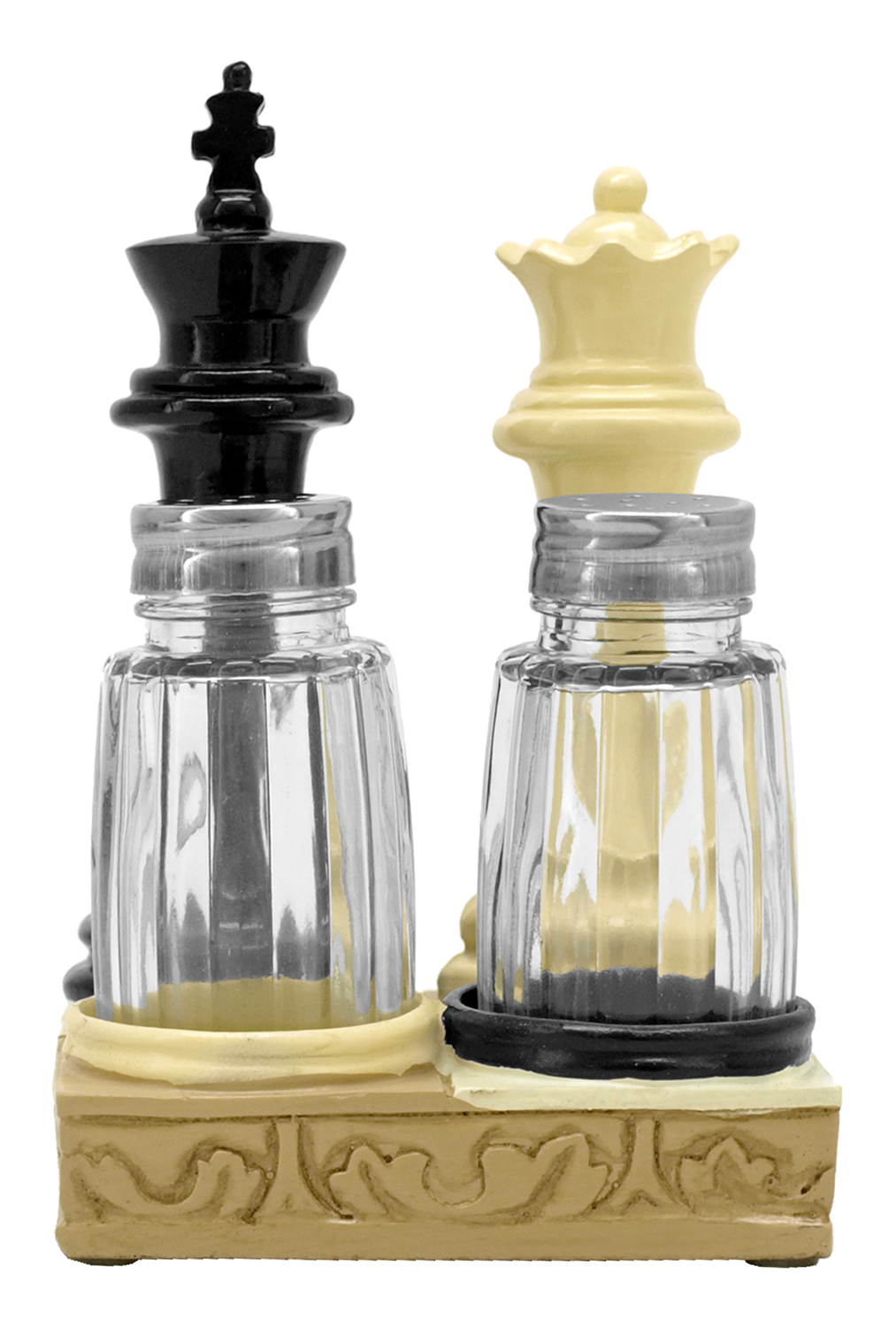 Checkmate Spice Salt and Pepper Shaker Holder