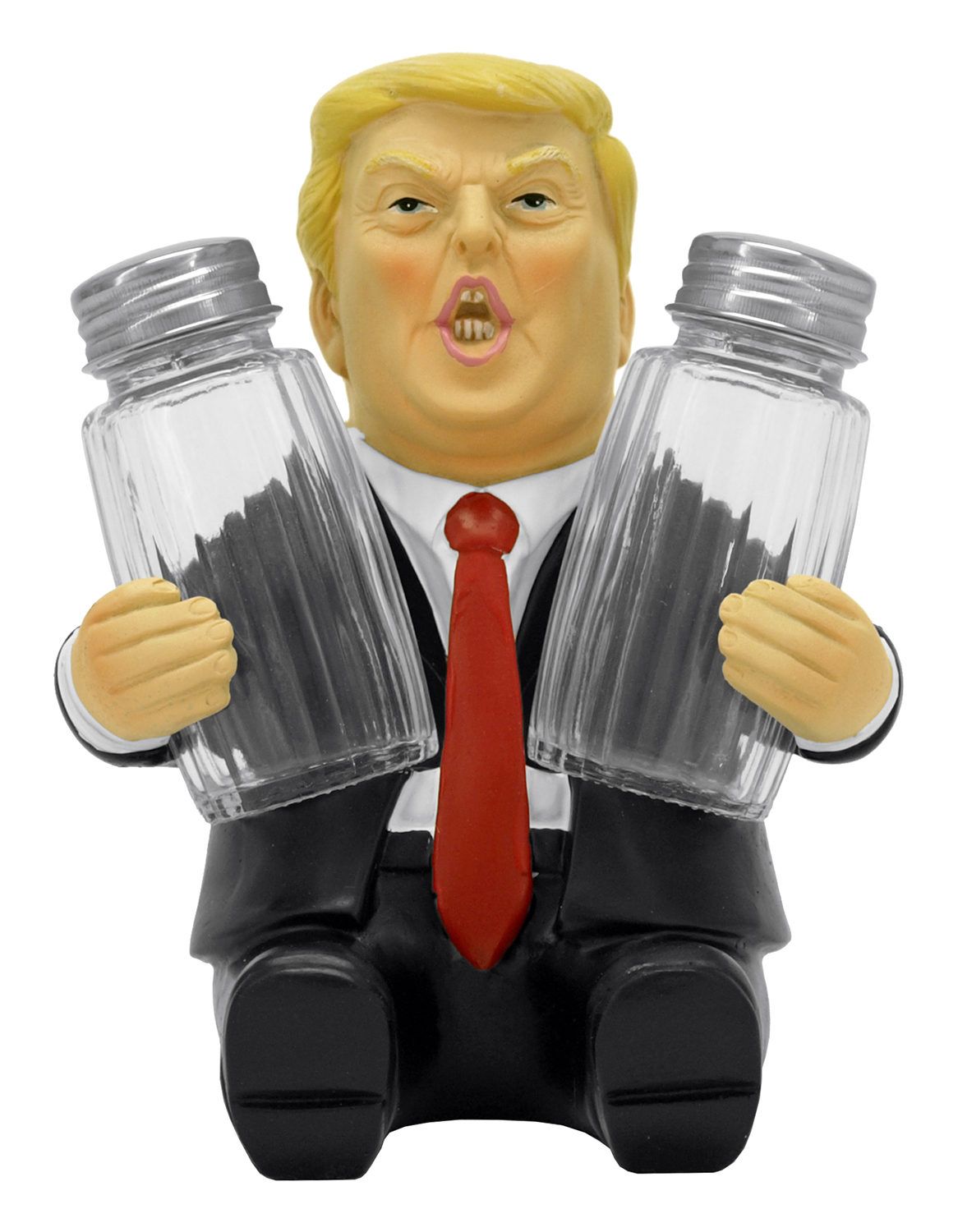 6.38 in Make Flavor Great Again - Trump Salt and Pepper Shaker Holder
