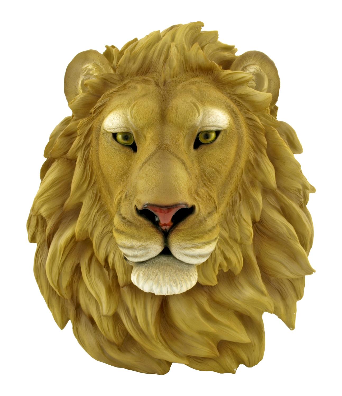 16.75 in Arsaelan Lion Head Bust Wall Mount Figurine - DWK