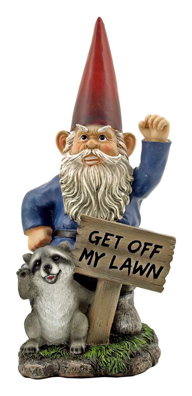 17 in Cranky Morning Warning Garden Gnome Statue Figurine - DWK