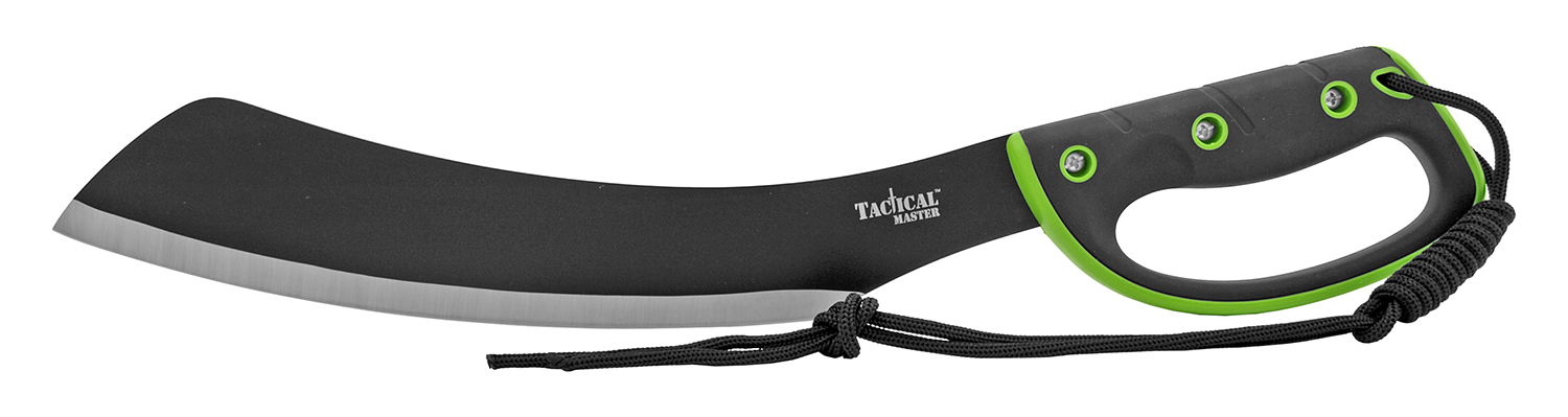 20.25 in Tactical Master Bush Full Tang Machete with Reaper Curved Blade - Green