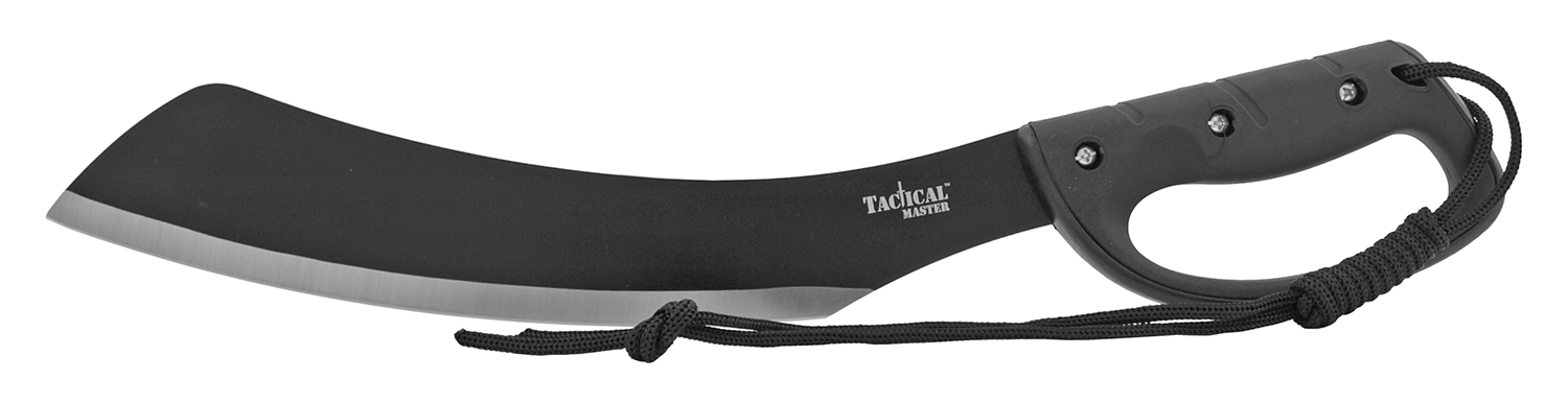 20.25 in Tactical Master Bush Full Tang Machete with Reaper Curved Blade - Black