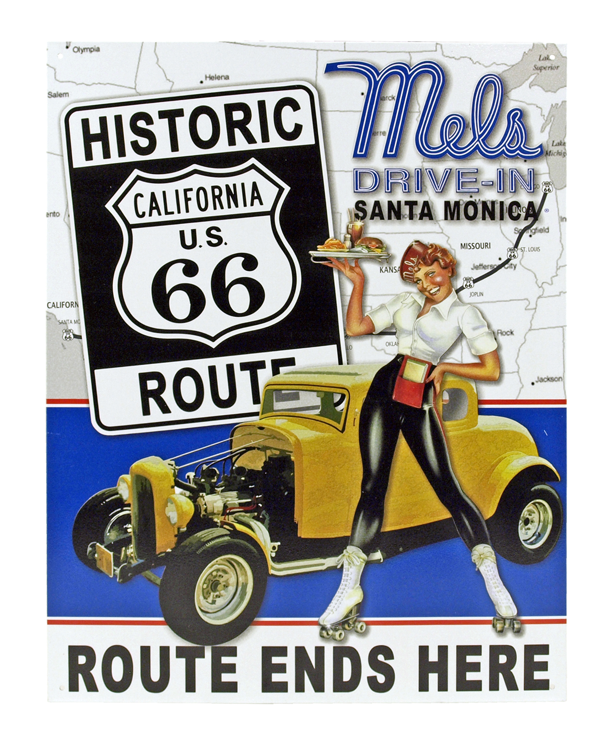 Route 66 Drive-In - Tin Sign