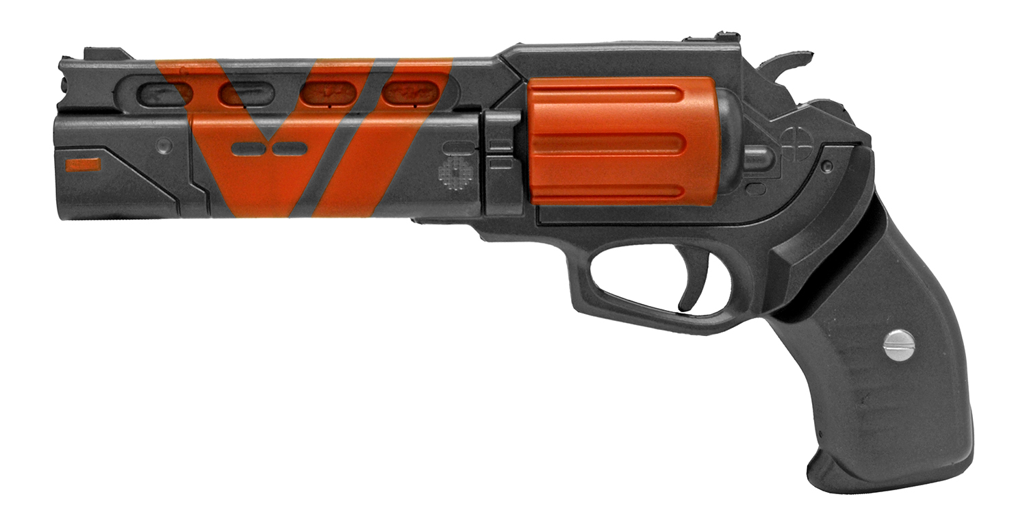 Foam Six Shooter Pistol - Black and Red