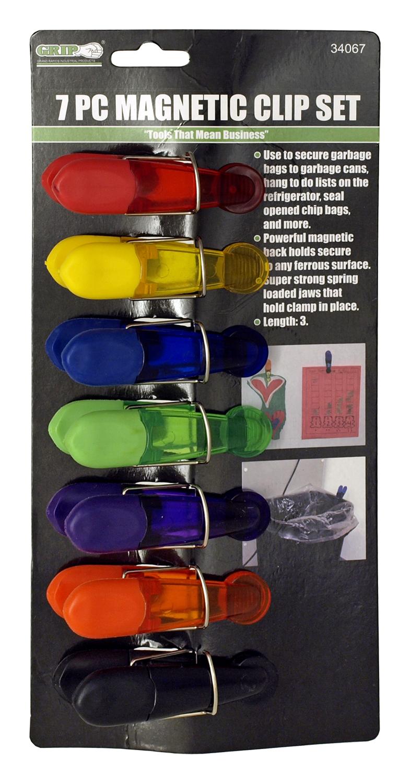 7 - pc. Magnetic Clip Set - Grip