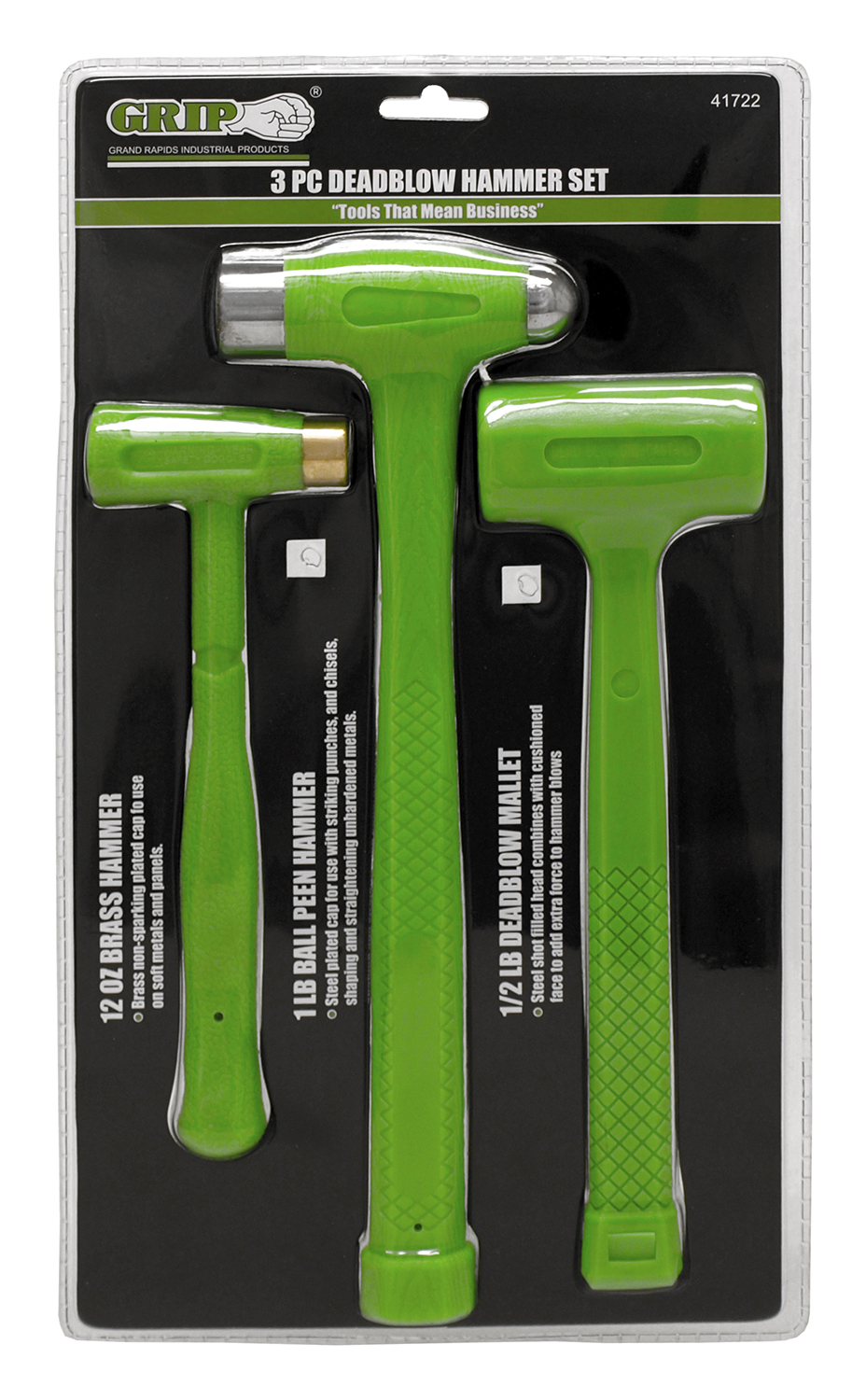 3 - pc. Deadblow Hammer Set - Grip