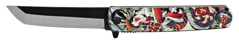 4.75 in Mini Katana Samurai Folding Pocket Knife - Giesha Girl