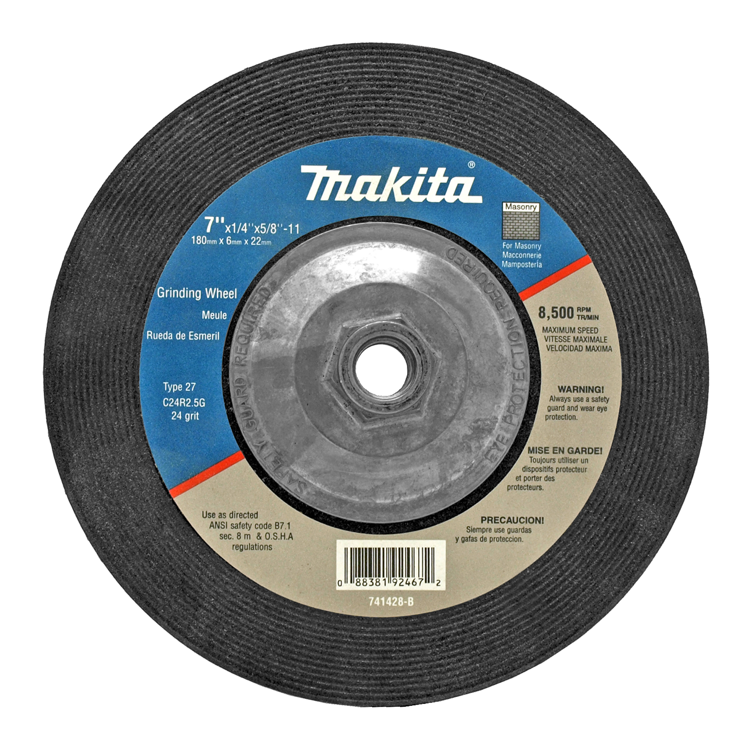 7 in 24 Grit Grinding Wheel - Makita