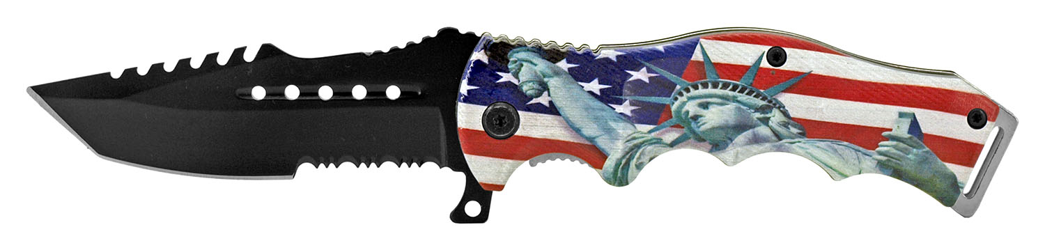 4.75 in American Artist Folding Knife - Lady Liberty
