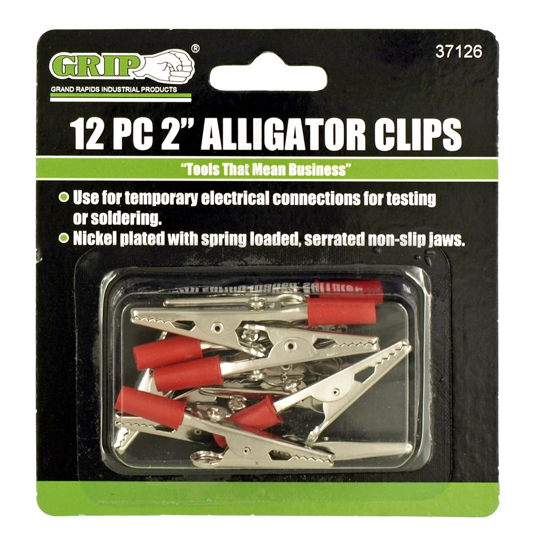 12 - pc. 2 in Alligator Clips - Grip