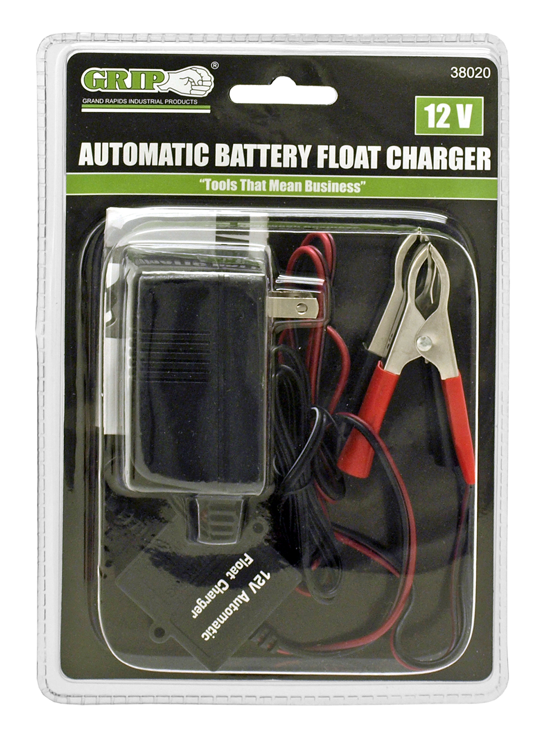 12 - Volt Automatic Battery Float Charger - Grip