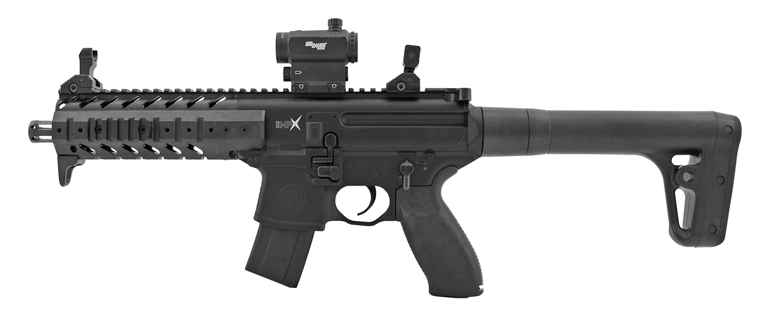 SIG Sauer Full Metal MPX Advanced .177 Cal. Air Pellet Assault Rifle with Scope - Black
