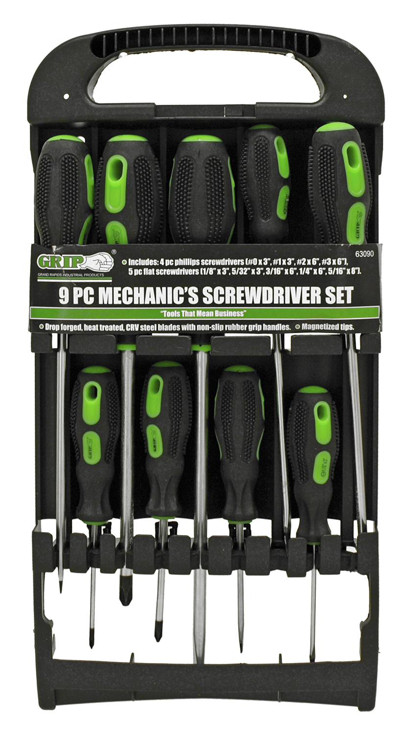 9 - pc. Mechanic's Screwdriver Set - Grip