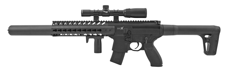 SIG Sauer Metal MCX .177 Cal. Air Pellet Assault Rifle with 24mm Scope - Black