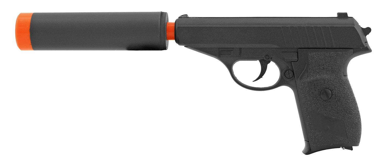 UK Arms G3A Spring Powered Airsoft BB Pistol Handgun - Black