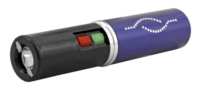 Concealed Lipstick Stun Gun with Flashlight - Purple