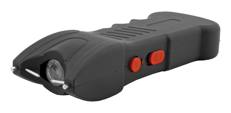 Traditional High Voltage Stun Gun Flashlight - Black