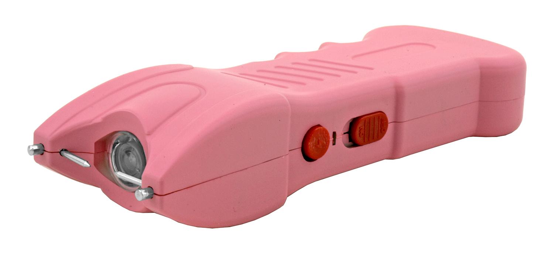 Traditional High Voltage Stun Gun Flashlight - Pink