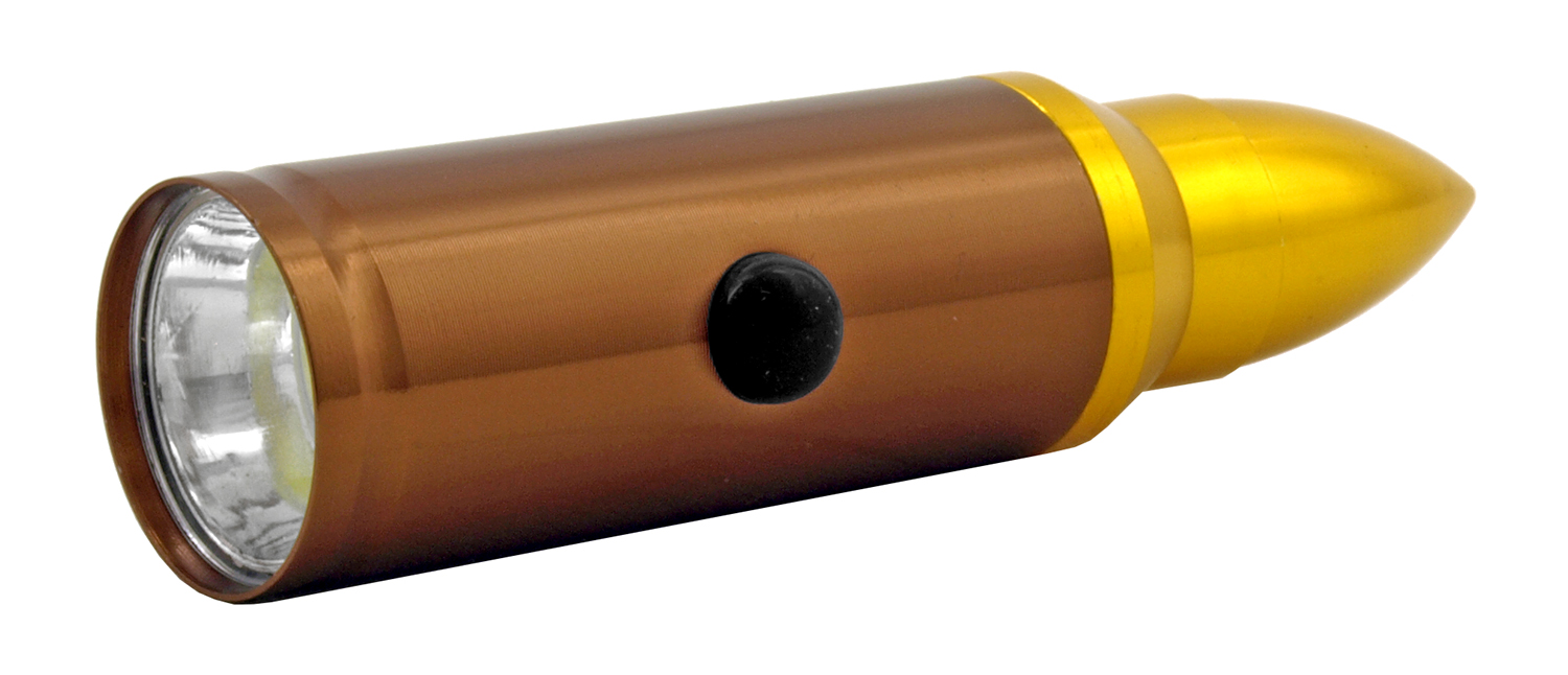 .50 Caliber Bullet Shell Casing LED Flashlight