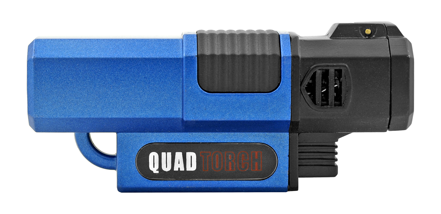 One Touch Quad Torch Style Lighter - Assorted Colors