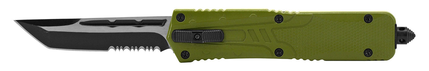 5.5 in Color Rush Out the Front Knife - Olive Green