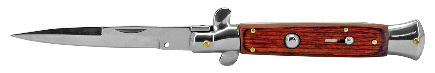 5.38 in Push Button Switchblade - Wooden