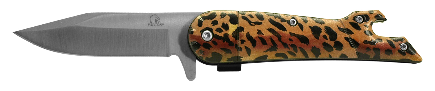 4.5 in Fisherman's Folding Knife - Leopard Print