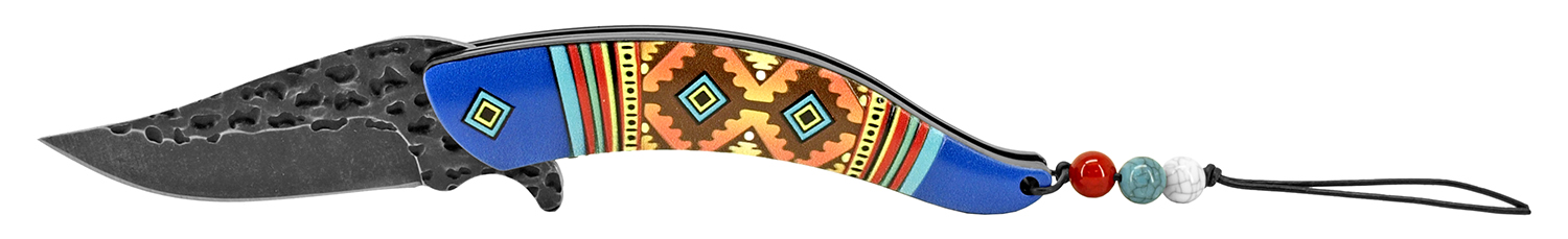 5 in Aztec Indian Design - Blue