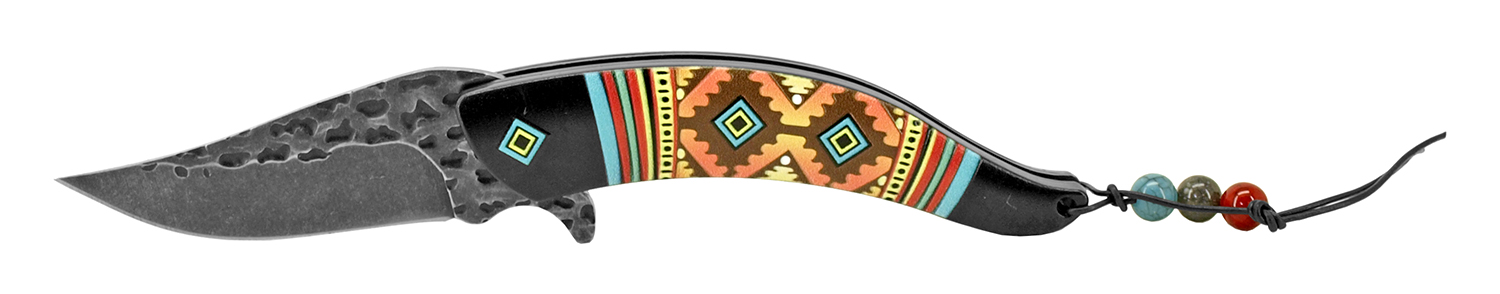5 in Aztec Indian Design - Black
